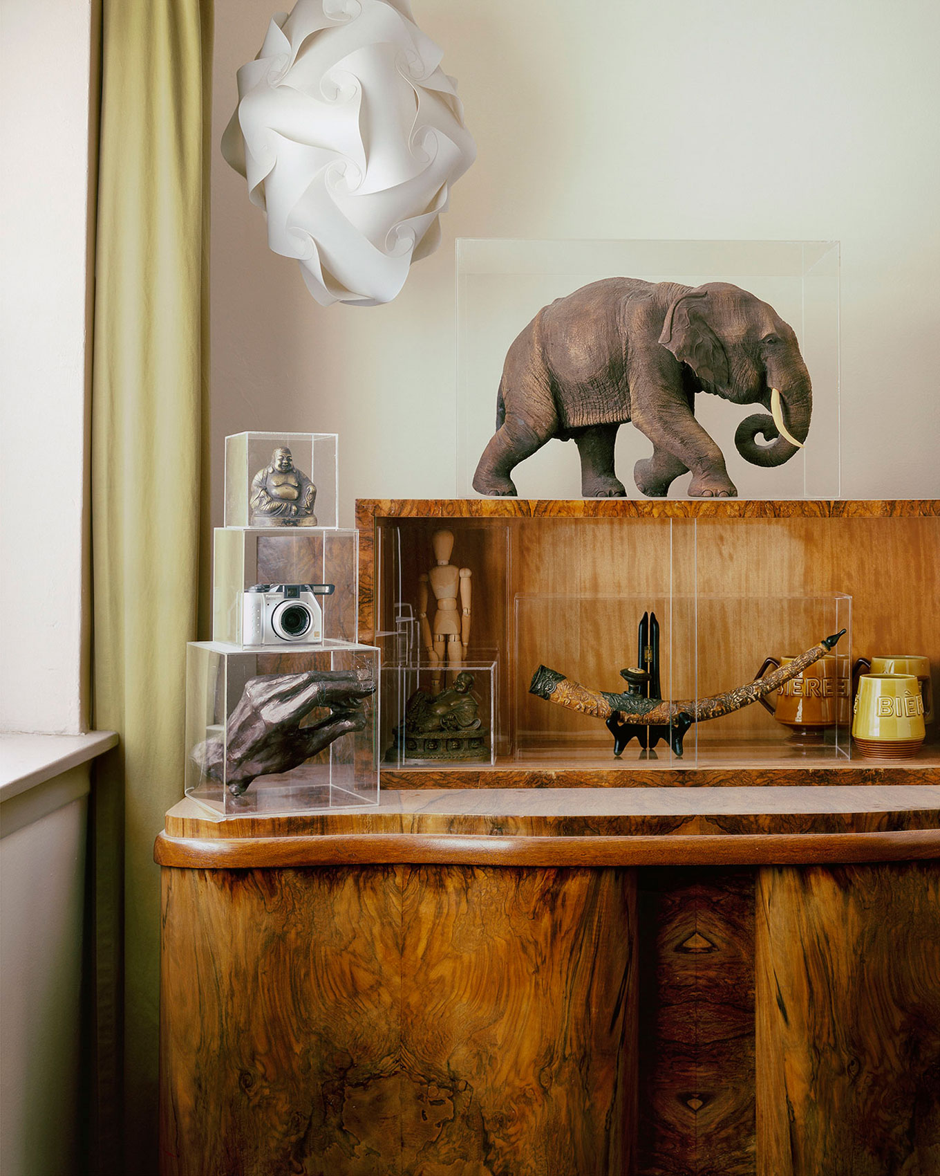 Colwyn Griffith's conceptual photograph of a sideboard shot one year after a long of dust had accumulated on it.